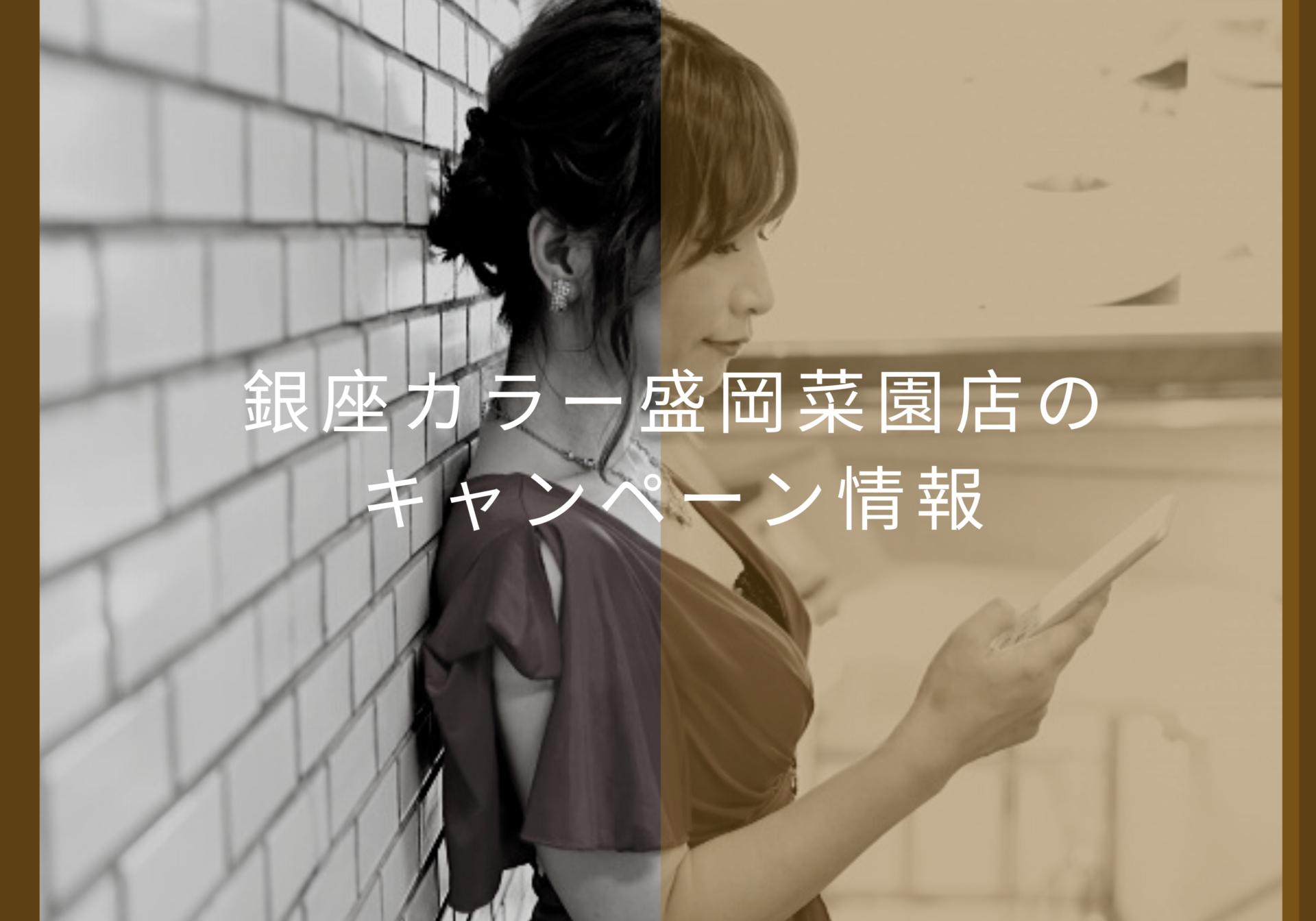 銀座カラー盛岡菜園店キャンペーン情報