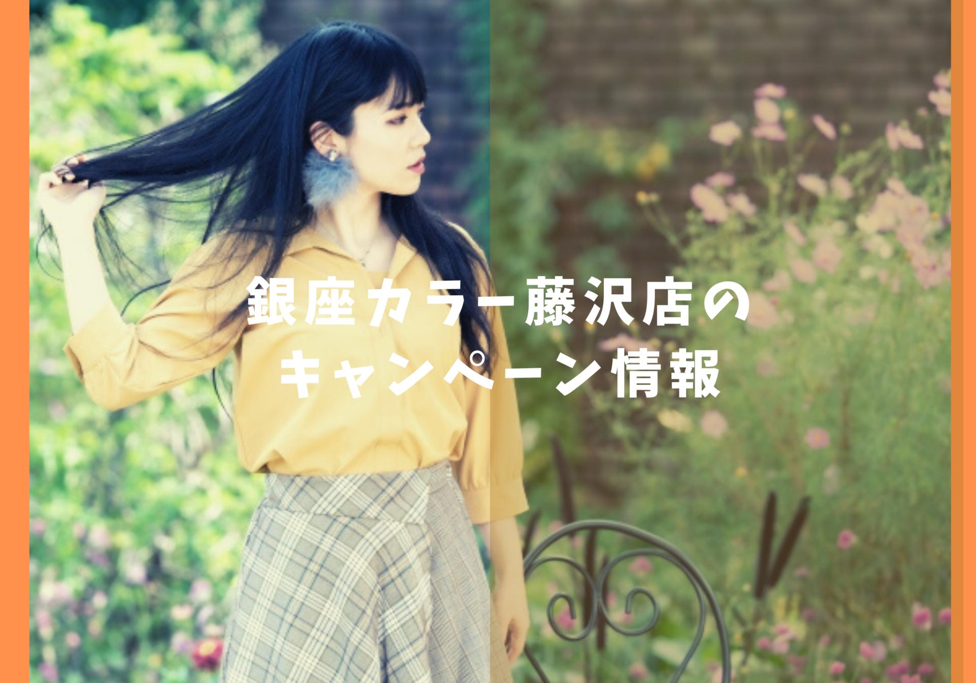 銀座カラー藤沢店キャンペーン情報