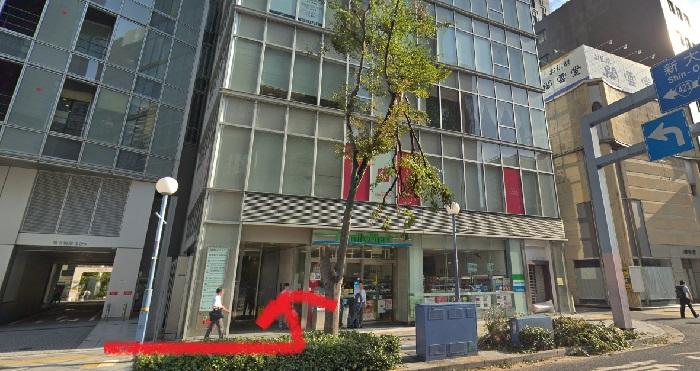 銀座カラー 梅田新道店 行き方