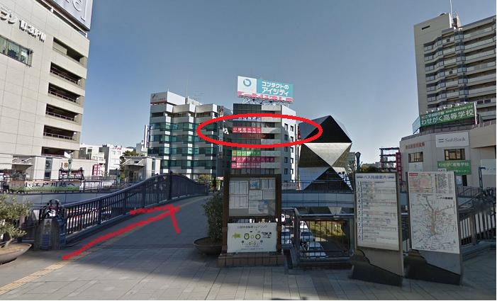 川越駅前店から見た銀座カラー