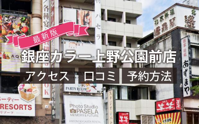 銀座カラー上野公園前店   アクセス 口コミ 予約方法