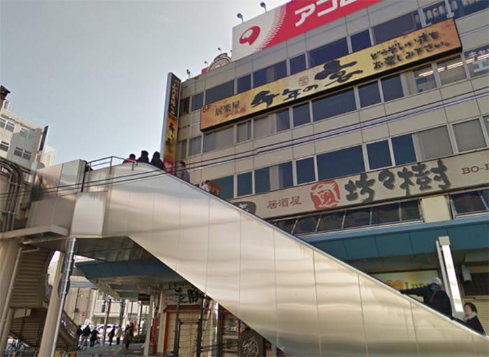 アコム錦糸町駅前の看板が見える方面