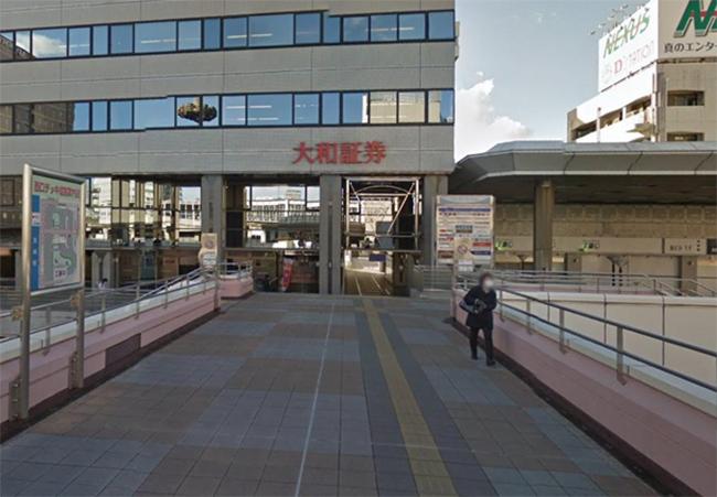 大和証券 高崎支店のビルの方面