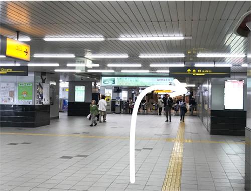 阪神西宮駅えびす口の改札を出たら右に進みます