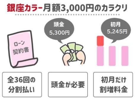 月額3000円のからくり