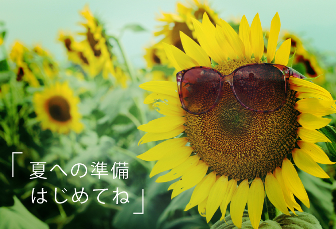夏への準備はじめてね