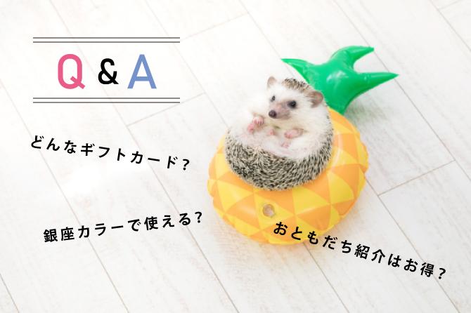 銀座カラーの友達紹介で届くギフトカードのQ&A