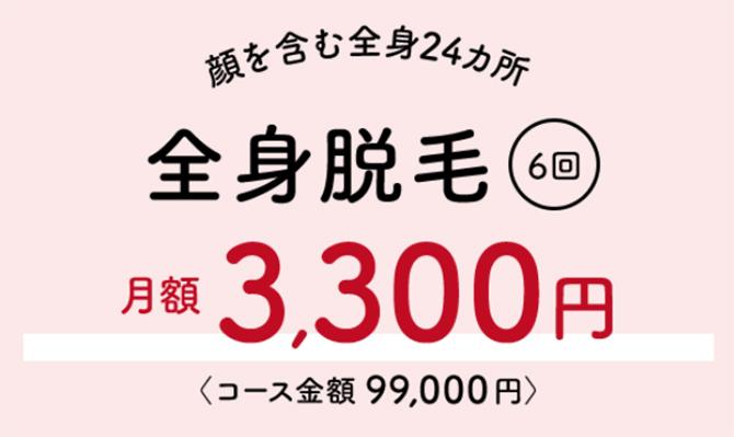 月額3,300円