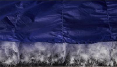 保温性に優れた中材と撥水性に優れたシェルを使用