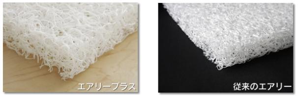 エアリープラス敷きパッドAPPHは、エアリープラスを中材に使用した厚さ3.5cmの敷きパッド