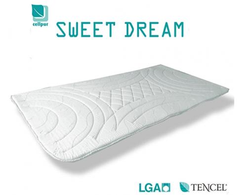 SWEET DREAMは、マットレスや敷布団の上に重ねて使用することができる厚さ2.5cmのマットレストッパー