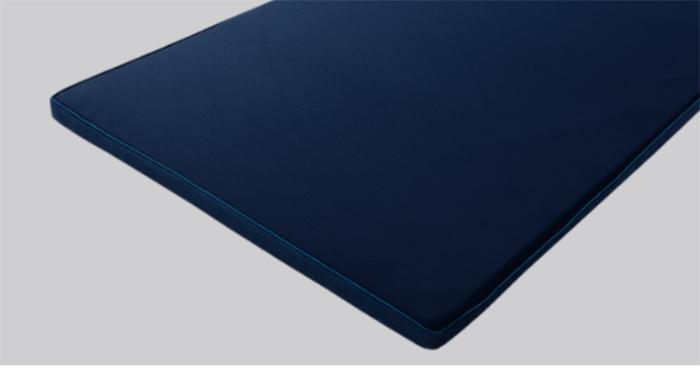 トッパータイプの厚さは4cm