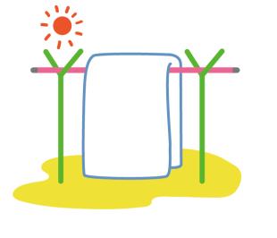 ットレスや敷布団の素材が、綿、羊毛、合繊であれば、天日干ししてください