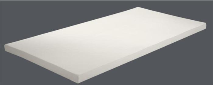 フトンベーシックは4cmの高耐久性ベース層の上に2cmのライトテンピュール®素材を組み合わせた厚さ6cmの構造