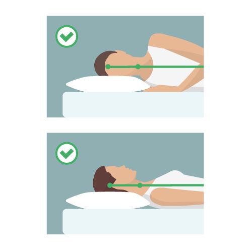 後頭部から首の付け根をサポートする枕を選ぶ